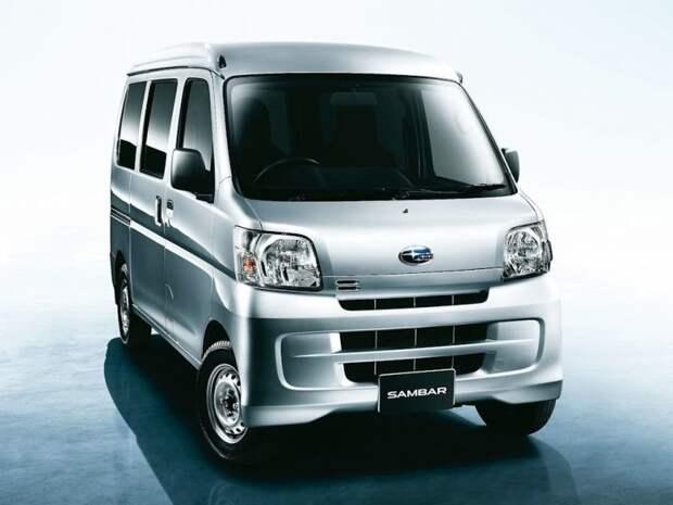 Последняя версия Самбара, сделанная из Тойоты. Мотор, увы, спереди… jdm, subari, subaru sambar, авто, автомобили, кей-кар, япония