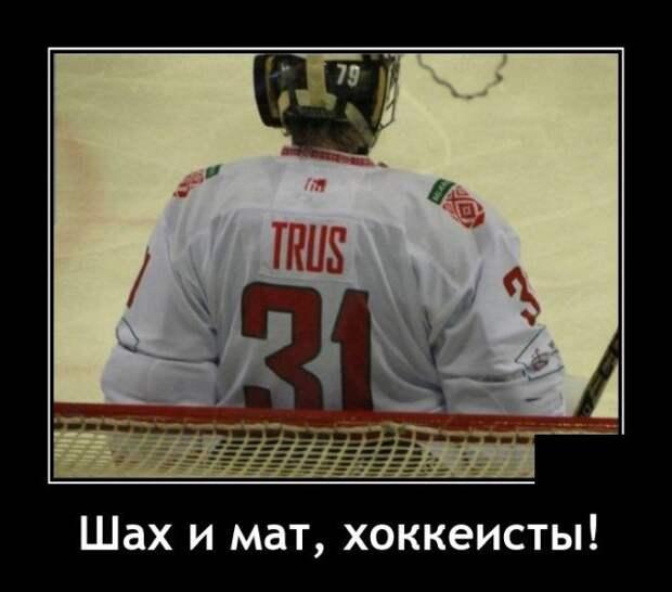Демотиватор про хоккеистов