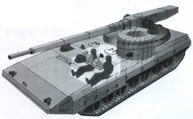 Появилась информация о перспективном российском танке «Бурлан»
