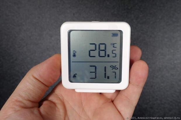 Термометр-гигрометр с Wi-Fi на батарейках