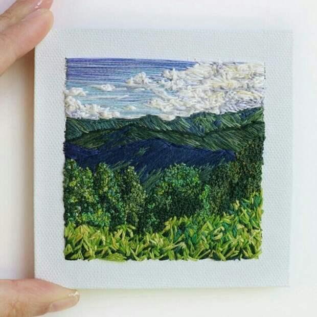 Вышитые пейзажи (подборка)