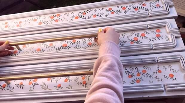 Девушка восхитительно обновила старый комод стоимостью 500 рублей