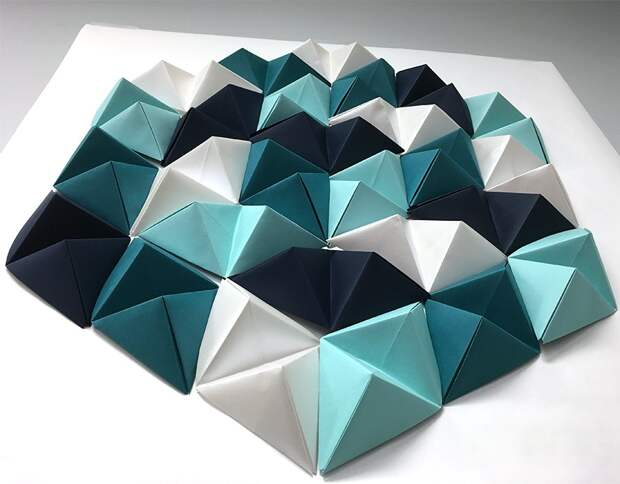 Декор с помощью самодельной бумажной плитки