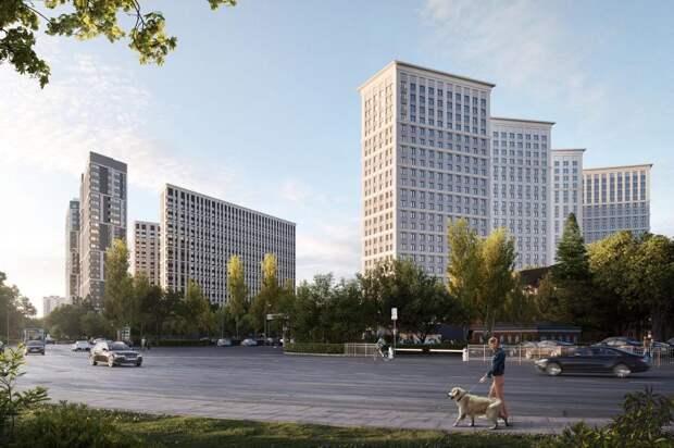 Жилой дом с поликлиникой построят в бывшей промзоне «Октябрьское Поле» к 2022 году