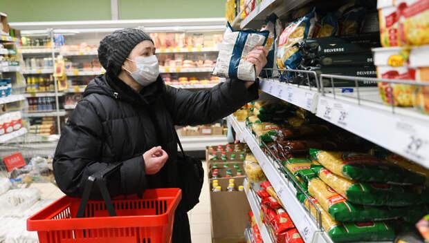 В подмосковных магазинах начали информировать покупателей об обязательном ношении масок