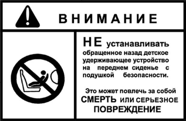 Правила пдд перевозка детей