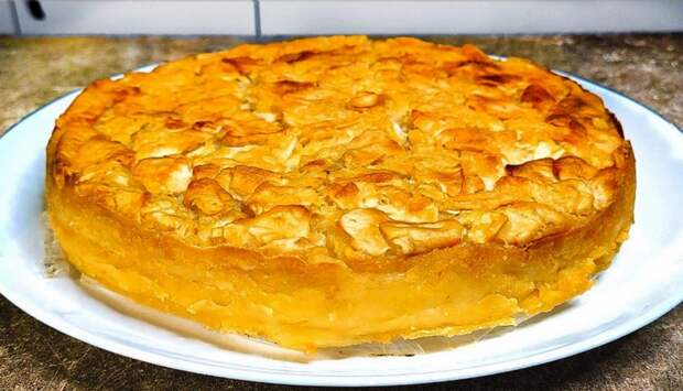 Много начинки и мало теста! Яблочный пирог на кефире, вкуснее чем шарлотка
