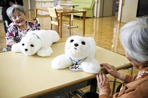 Робот PARO в доме престарелых