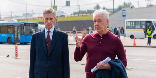 Собянин рассказал о планах развития одного из крупнейших ТПУ «Выхино». Фото: М. Мишин mos.ru