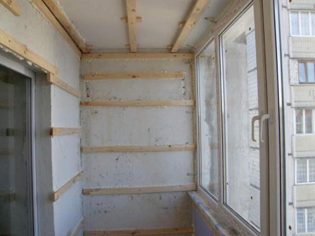 Экономичный ремонт для лоджии и балкона