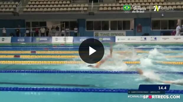Rumo a Tóquio! Guilherme Basseto e Guilherme Guido garantem vaga nos Jogos Olímpicos nos 100m Costas Masculino - Dia 2 do Pré-Olímpico de Natação (20/04/2021)
