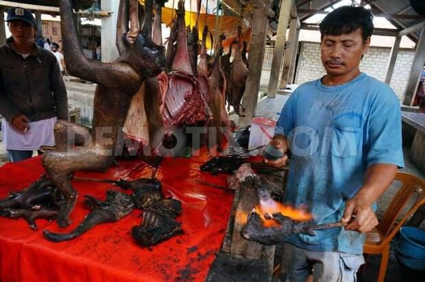 Деликатесы индонезийского рынка