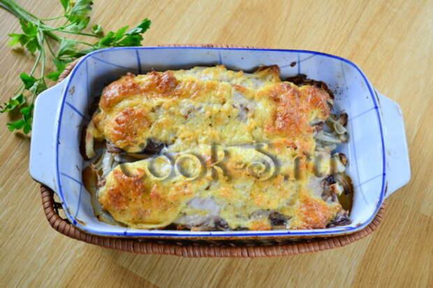Скумбрия запеченная с сыром в духовке