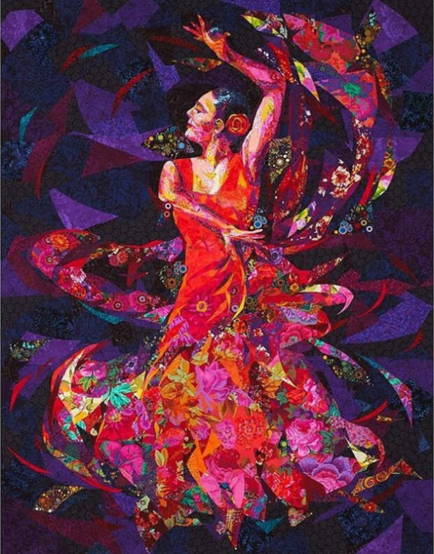 Текстильная мозаика: удивительно красочные картины Danny Amazonas