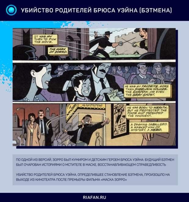 Зорро можно считать одним из прообразов Бэтмена