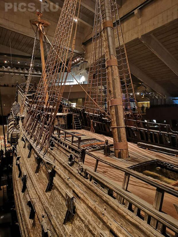 """Корабль-музей """"Васа"""" в Стокгольме, Швеция."""