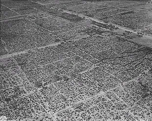 Аэрофотосъемка лагеря для немецких военнопленных на территории Германии
