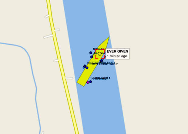 Навигация по Суэцкому каналу закрыта. Возможно, на недели