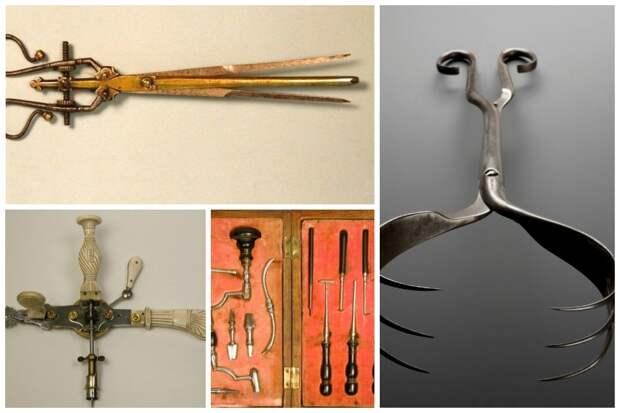 Старинные медицинские инструменты, похожие на орудия пыток
