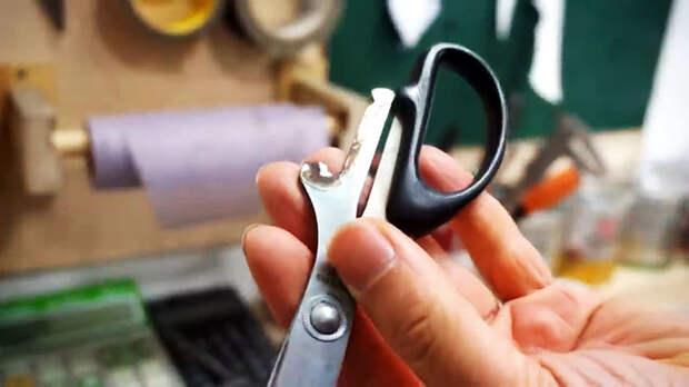 Как сделать кустарный ножик из сломанных ножниц своими руками