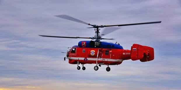 Вертолеты-рекордсмены тушат пожары в столице