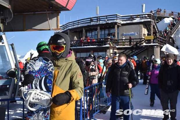 В Сочи туристы побили олимпийские рекорды