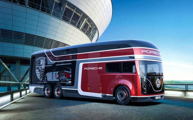 Русский дизайнер придумал автобус для Porsche