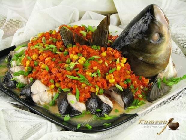 Рыба по-весеннему на пару – рецепт с фото, китайская кухня