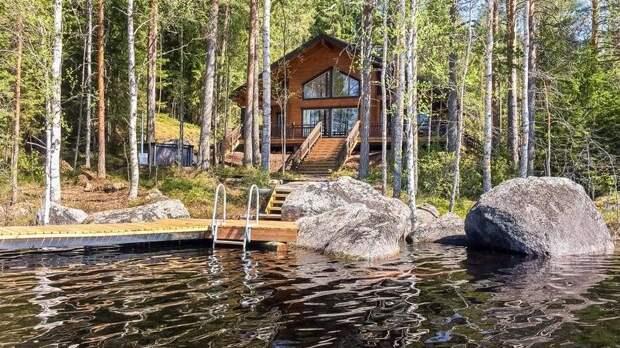 Семейный отдых в коттеджном поселке в Финляндии на берегу озера