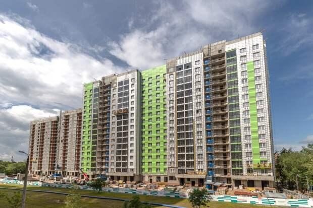 Строительство двух жилых корпусов на Вилиса Лациса завершится в следующем году