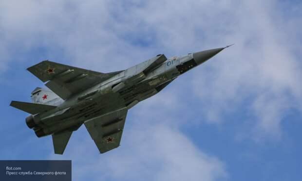 МиГ-31 ВКС РФ перехватил над Беринговым морем два бомбардировщика ВВС США