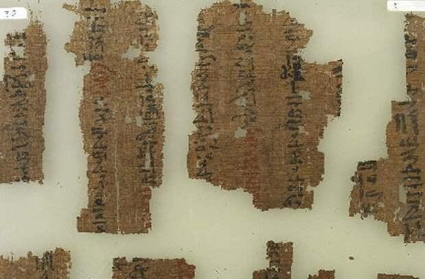 Древняя медицина: папирусы из храма Рамессеум.