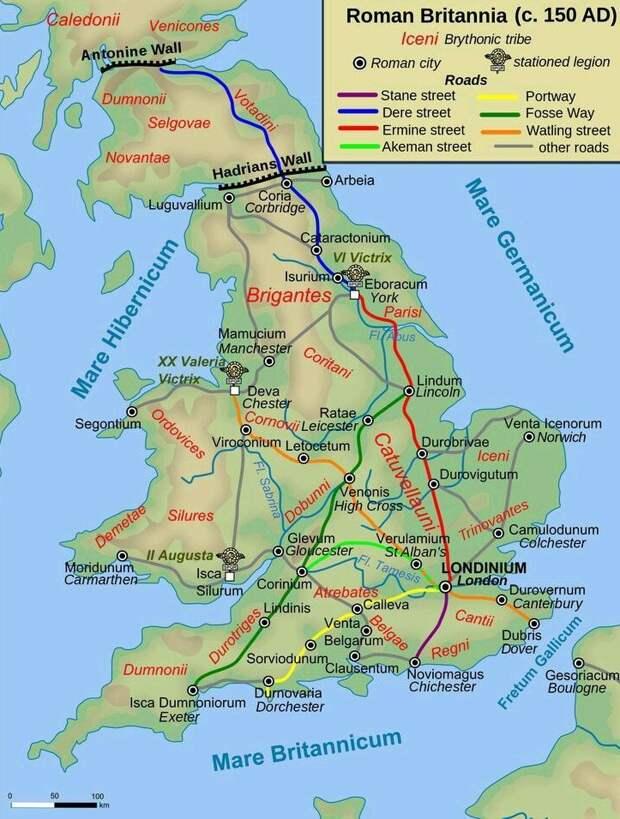 Римские дороги в Британии. commons.wikimedia.org - Все дороги ведут в Рим | Warspot.ru
