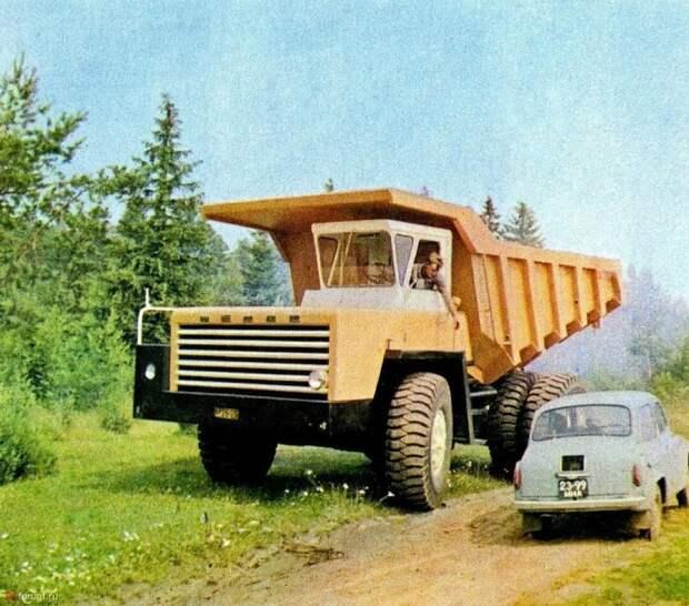 БелАЗ-540 и ЗАЗ-965 СССР, автомобили, советская техника, советские машины