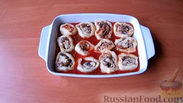 Картофельные рулетики с грибами - идеально для поста: без мяса, без яиц и без сыра!