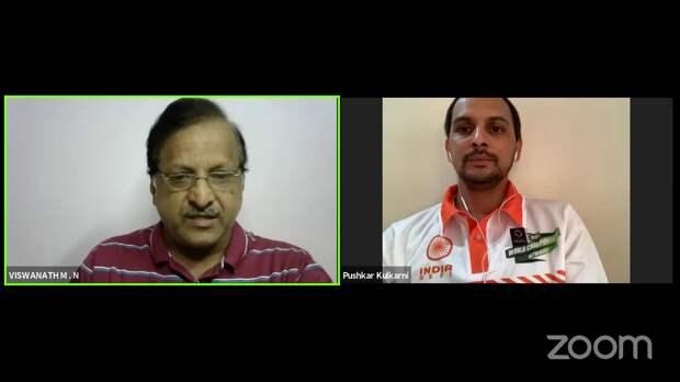 Conversation with International roller skating player & coach Mr Pushkar Kulkarni