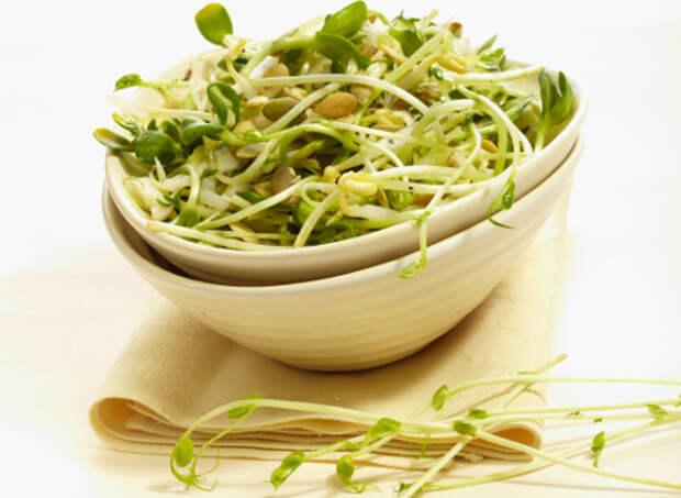 проростки; салат из капусты с проростками