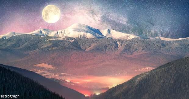 Редкая пара: полнолуние в декабре совпадет с зимним солнцестоянием