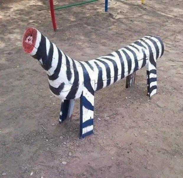Зебра без головы.