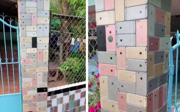 Забор из айфонов
