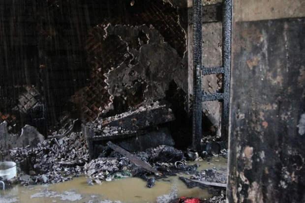 В Севастополе сгорела квартира