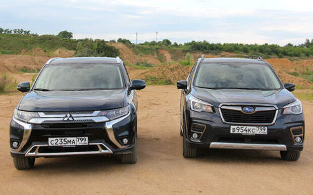 Блог Петра Меньших: Mitsubishi Outlander против Subaru Forester