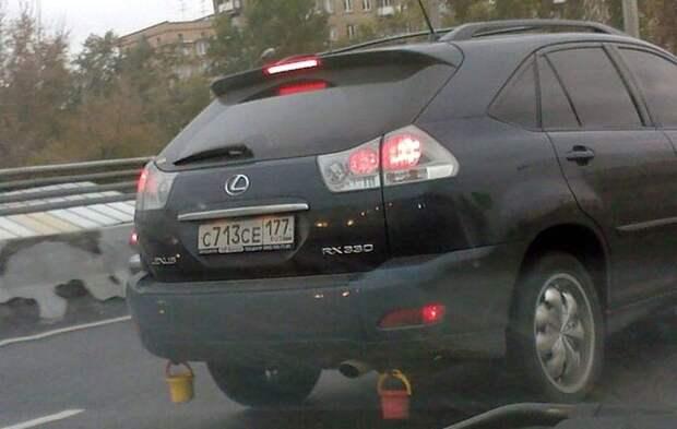 Зачем на машину вешают ведерко авто, ведерко, ведро, оберег, обычай, примета, талисман, тюнинг