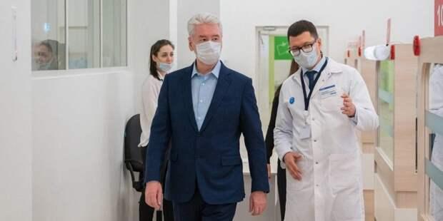 Собянин рассказал о новой службе телемедицины для пациентов с COVID-19. Фото: mos.ru