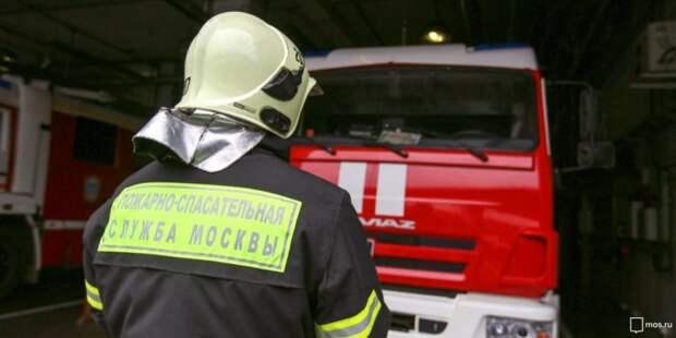 Пожарные ликвидировали возгорание на Хорошевском шоссе