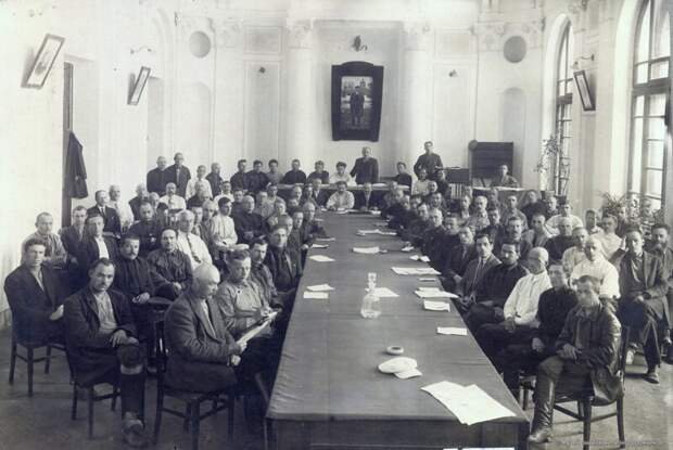 1927. VI-й расширенный пленум Дорпрофсожа Омской ж.д. 18-20 июня история, ретро, фото