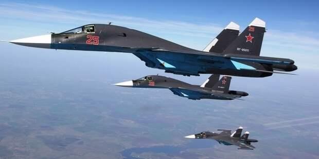 Звено Су-34 вызвало панику у ИГИЛ: уничтожено 53 машины, 4 пункта и склад БК террористов в Сирии
