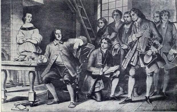 Петр Алексеевич лично экзаменует дворян