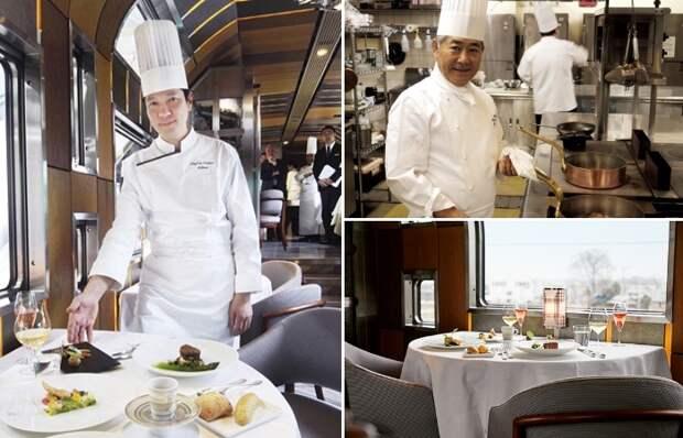 Лучшие повара страны готовят кулинарные шедевры для гостей (Train Suite Shiki-shima). | Фото: madamefigaro.jp.