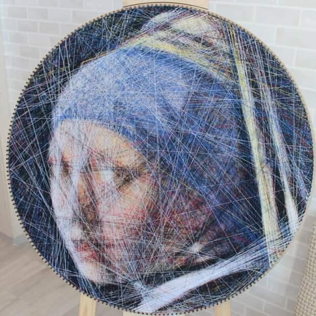 Оригинальный способ создания классических портретов при помощи алгоритма и ниток                                 (21фото+1видео)